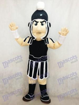 Neues schwarz weißes spartanisches Trojaner Ritter Sparty Maskottchen Kostüm