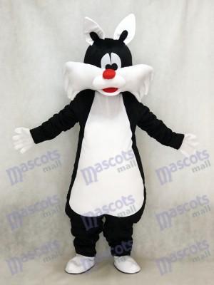Schwarze Katze Maskottchen Kostüm Tier