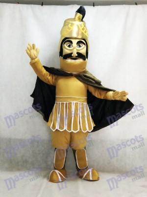 Heftiger goldener Helm Trojan Krieger Maskottchen Kostüm