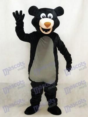 Langhaariger Schwarzbär Maskottchen Kostüm Tier