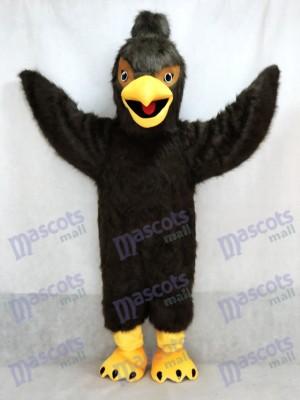 Dunkelbraun Feather Hawk Falcon Adler Maskottchen Kostüm Tier