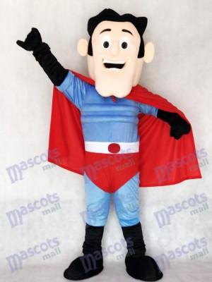 Neuer Superheld mit rotem Kap Maskottchen Kostüm