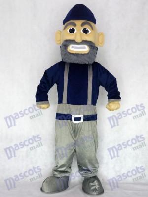 Marineblau und grau Mariner Maskottchen Charakter Kostüm Menschen