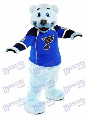 Louie Blau-furred Eisbär des St. Louis Blues-Maskottchen-Kostüms