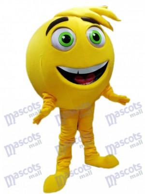 Gelb Mel Meh Das Emoji Maskottchen Kostüm