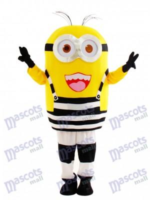 Glücklicher Minion im Gefängnis Despicable Me Maskottchen Kostüm Karikatur