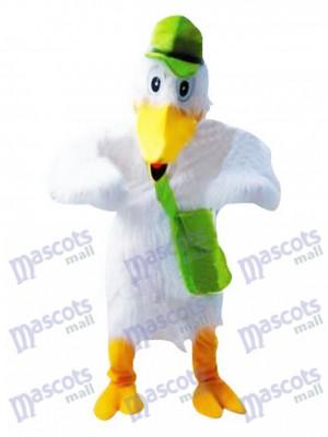 Storch weißes Vogel Maskottchen Kostüm Tier