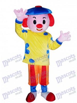 Blauer Hut Jungen Maskottchen Kostüm Karikatur