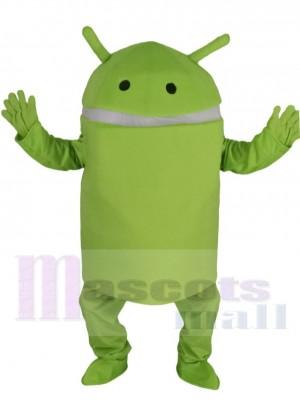 Hellgrün Android Roboter Maskottchen Kostüm Karikatur
