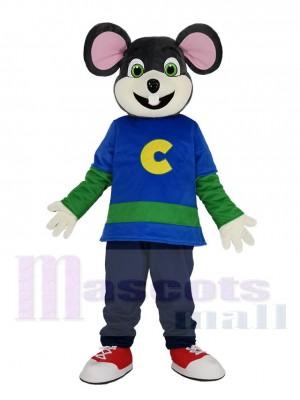 Süß Chuck E. Cheese Maus mit Beige Gesicht Maskottchen Kostüm
