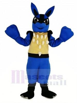 Blau Lucario Pokémon Pokemon Maskottchen Kostüm Karikatur