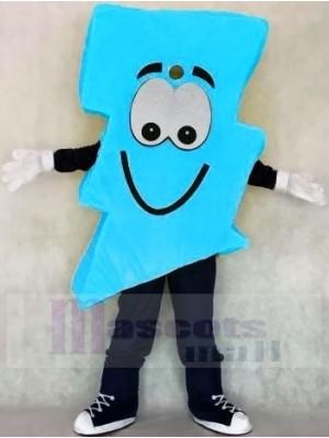 Neon Blau Blitz Bolzen Herr. Elektrisch Blitz Bolzen Maskottchen Kostüme