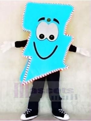 Neon Blau Blitz Bolzen mit Farbe Trimmen Herr. Elektrisch Blitz Bolzen Maskottchen Kostüme