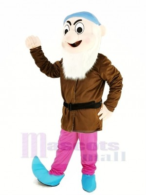Zwerge mit Braun Mantel Maskottchen Kostüm