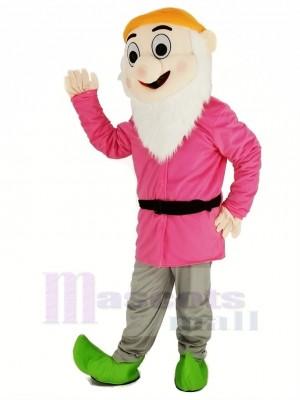 Zwerge mit Rosa Mantel Maskottchen Kostüm