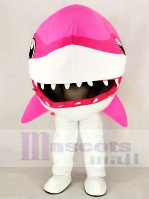 Süß Rosa Wal Hai Maskottchen Kostüm Karikatur