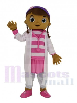 Doc McStuffins Arzt Dottie im Weiß Uniform Maskottchen Kostüm