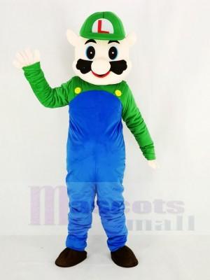 Super Mario Bros im Grün Maskottchen Kostüm Karikatur