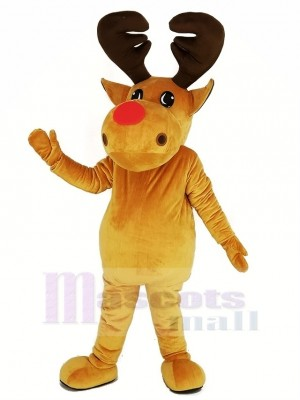 Braun Rentier Maskottchen Kostüm Weihnachten