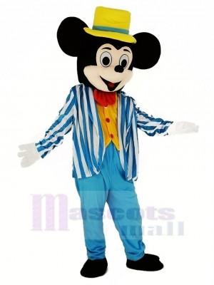 Mickey Maus im Blau Maskottchen Kostüm Karikatur