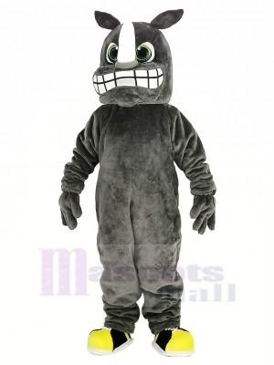 Grau Nashorn Maskottchen Kostüm Tier