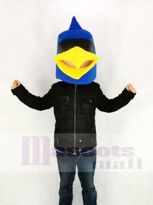 Blau Vogel Nur Kopf Maskottchen Kostüm Karikatur