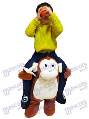Piggyback Monkey Carry Me Fahrt brauner Affe mit einer Banane für Kid Maskottchen Kostüme chipmunks kostüm huckepack kostüm selber machen