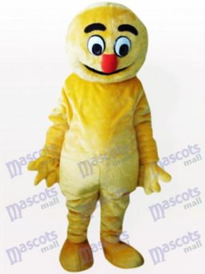 Gelbes Boogie Man Party Maskottchen Kostüm für Erwachsene