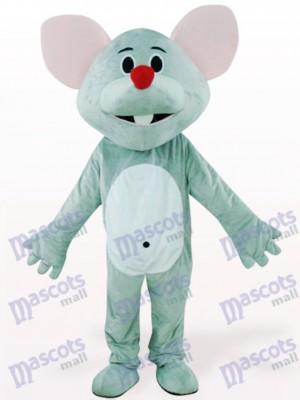 Graue Maus mit rotem Nasen Tier Maskottchen Kostüm