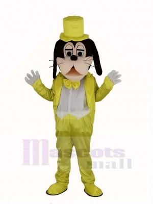 Goofy Hund im Golden Mantel Maskottchen Kostüm