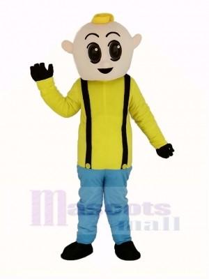 Junge mit Gelb Hemd Maskottchen Kostüm