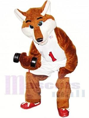 Basketball Sportlich Fuchs Maskottchen Kostüm