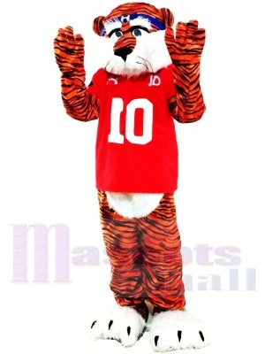 Professionelle kastanienbraune Tiger Maskottchen Kostüme