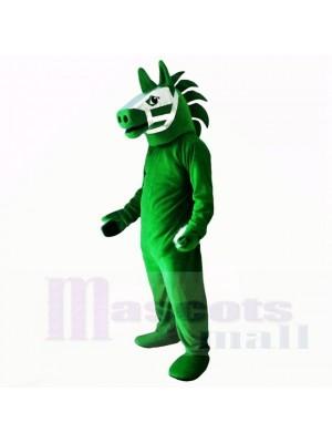 Grün Trojaner Pferd Maskottchen Kostüme Erwachsene