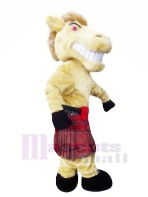 Heftig Pferd mit Kleid Maskottchen Kostüme