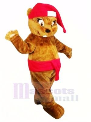 Süß Braun Weihnachten Biber Maskottchen Kostüme Tier