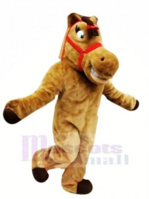 Süß Braun Pferd Maskottchen Kostüme Karikatur