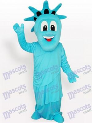 Blaues Freiheitsstatue Maskottchen Kostüm für Erwachsene