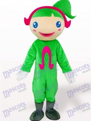 Grünes Ohm Karikatur erwachsenes Maskottchen Kostüm