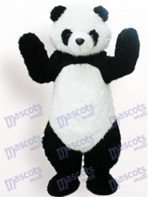 Schwarzweiss Panda Tier erwachsenes Maskottchen lustiges Kostüm
