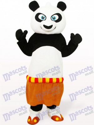 Schwarz Weiß Kung Fu Panda Tier Maskottchen Kostüm