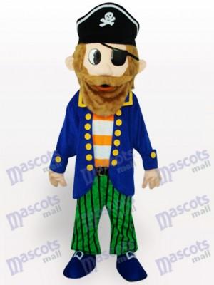 Buntes Piraten Karikatur erwachsenes Maskottchen Kostüm