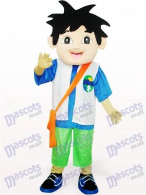 Blau und weiß Diego Delgado Maskottchen Kostüm für Erwachsene