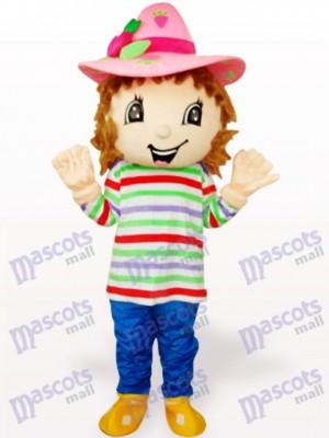 Schöne bunte Erdbeere Shortcake Girl Adult Maskottchen Kostüm