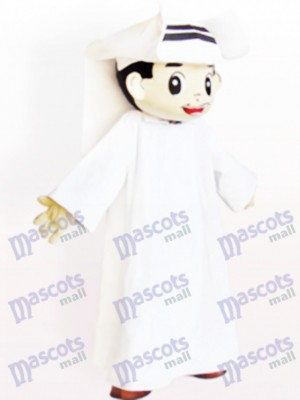 Arabischer Mann Cartoon Adult Maskottchen Kostüm