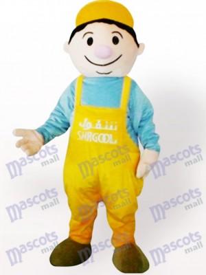 Miner Junge Cartoon Maskottchen Kostüm für Erwachsene
