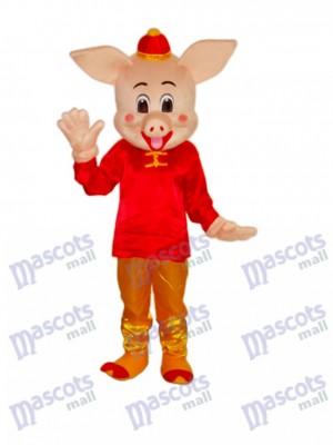 Goldenes Schwein Maskottchen erwachsenes Kostüm Tier