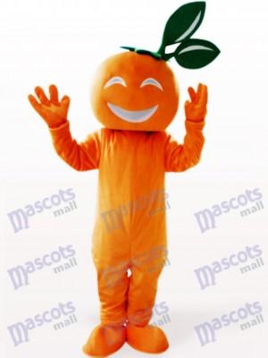 Lächelndes Nabel orange Frucht Maskottchen Kostüm