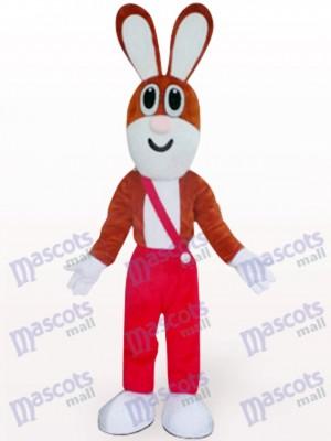 Osterhase in roter Hose Tier Maskottchen Kostüm