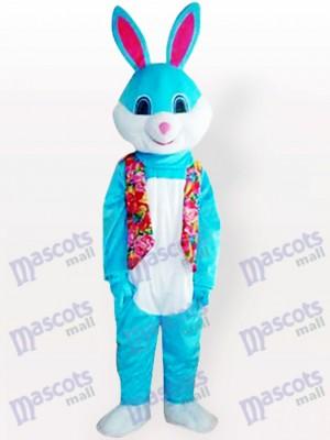 Blaues Osterhasen Kaninchen Tier erwachsenes Maskottchen Kostüm